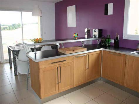 bar pour cuisine cuisine ouverte avec comptoir cuisine en image
