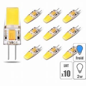 Ampoule Led G9 Blanc Froid : lot x10 ampoule led g4 cob 3w blanc froid ~ Melissatoandfro.com Idées de Décoration