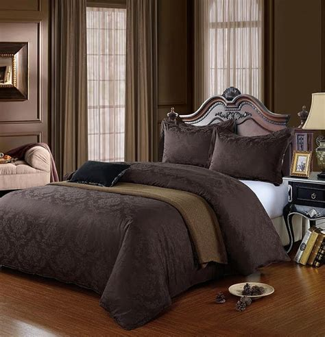 Chocolate Brown Duvet Covers by Chocolate Brown King Size Cotton 500 Thread Count