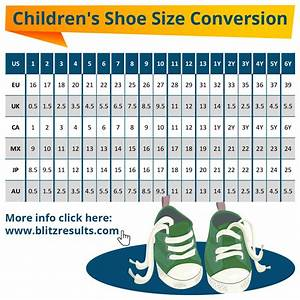 ᐅ Kids Shoe Sizes Conversion Charts Size By Age How To