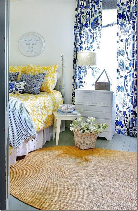blue  yellow farmhouse bedroom bedroom blue bedroom