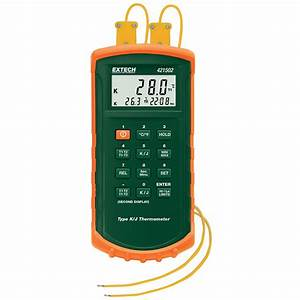 Extech Dual Input Thermocouple Thermometer With Alarm From