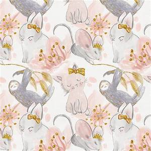 Pink and Gray Sloth Fabric by the Yard Pink Fabric
