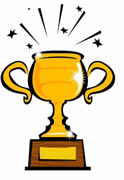 Trophy Clipart Cartoon Place Clip 1st Champion