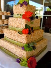 Rice Krispie Treat Wedding Cake Ideas