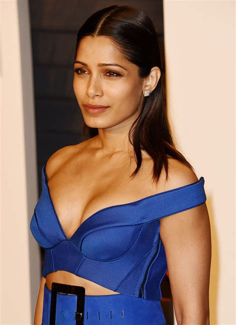 Vanity Christian by Freida Pinto At 2016 Vanity Fair Oscar Party Hosted By