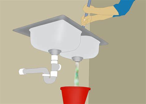 restore water flow   clogged kitchen drain  steps