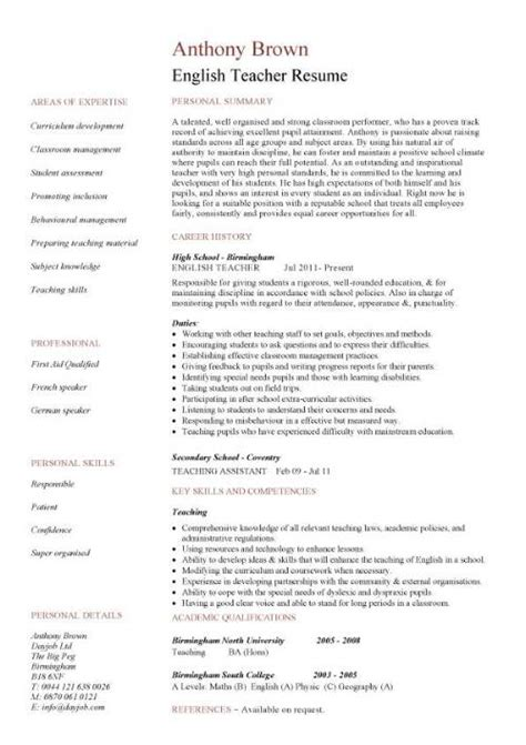 resume english examples