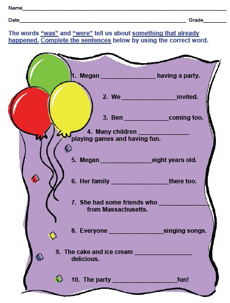 parts of speech workbook sle