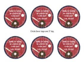 small favor bags baseball party 3 favor tags stickers by