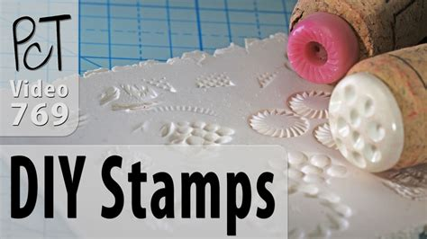 diy texture stamps  polymer clay youtube