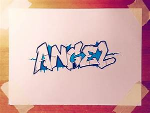 How to Draw ANGEL in Graffiti Letters - YouTube