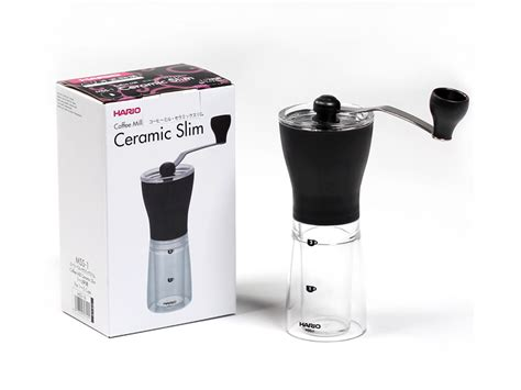A hand grinder is a great piece of equipment if you take your coffee seriously. Hario Ceramic Slim Hand Grinder - Okapi Coffee