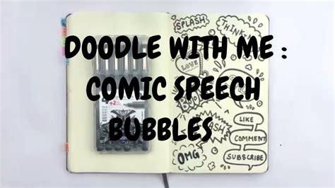 doodle   comic speech bubbles idle doodle youtube