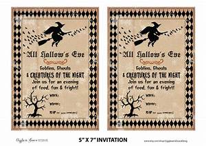 Free halloween party printables from giggles grace designs catch my party for Free halloween invites