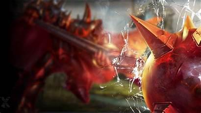 League Legends Mordekaiser Infernal Screen Crack Broken