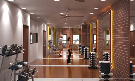 Gym Interior : Architectural Renderings & 3d Architectural Visualizations