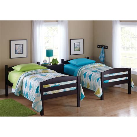 bunk beds twin  twin kids furniture bedroom ladder