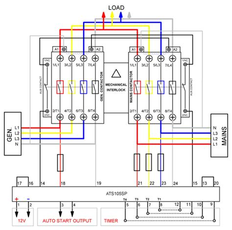 wiring diagrams ats generator automatic transfer switch switch between solar generator and main grid power ats diy tech