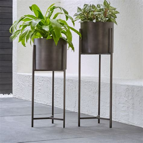 Floor Standing Planters by Dundee Floor Planters Crate And Barrel