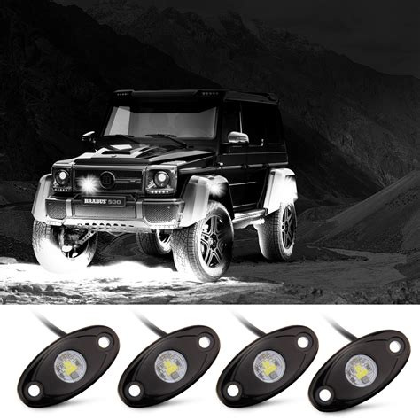 atv off road lights rock lights off road lights with 4 pods cree led and
