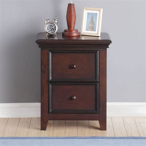 Two Drawer Nightstand by Two Drawer Nightstand Espresso And Youth