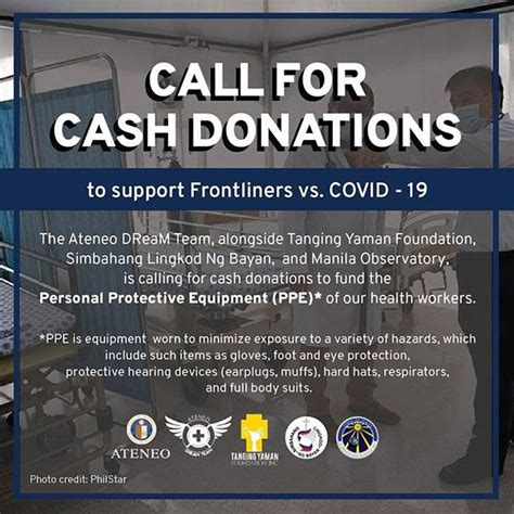call  cash donations  support frontliners  covid