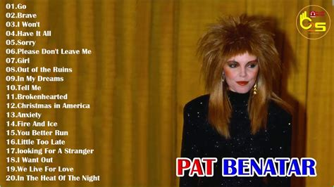Pat Benatar Greatest Hits - Best Of Pat Benatar Full Album ...