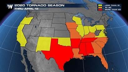 Tornado April National Count Average Alley Tornadoes