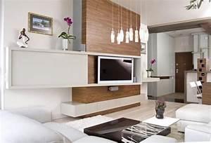 Wohnzimmer Holz Modern : wohnzimmer moderne wohnwand holz wei fernseher interior design in 2019 wohnzimmer ~ Orissabook.com Haus und Dekorationen