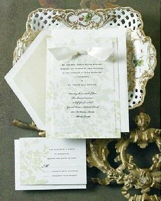 12 ELEGANT WEDDING INVITATIONS KIT Green Floral Set Formal