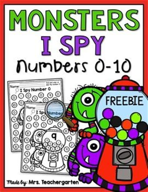 I Spy, Numbers And Monsters On Pinterest