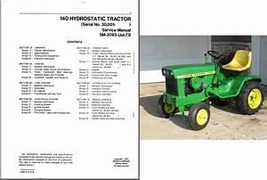 John Deere 140 Hydrostatic Lawn  U0026 Garden Tractor Service