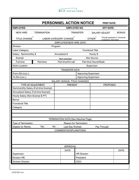personnel action form 26 personnel forms in doc free word format