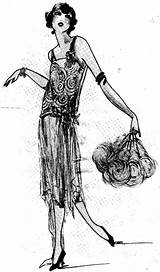 Flapper 1920 Drawing 1920s Coloring Sketches Flappers Pages Drawings Sketch Evening Flashcards Chapter Bar Studyblue Trending Days Last Note Gacha sketch template