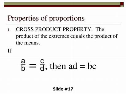 Proportion Properties Proportions Ratio Property Equal Following