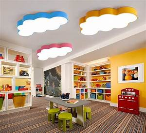 Cartoon, Fairytale, Lovely, Clouds, Led, Ceiling, Light, Design, Colors, Iron, Acrylic, For, Kids, Children, U0026, 39, S