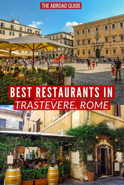 best places to eat in trastevere top 10 restaurants in trastevere rome the abroad guide