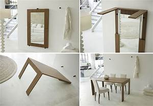Folding expanding tables small space solutions for Small space dining table solutions