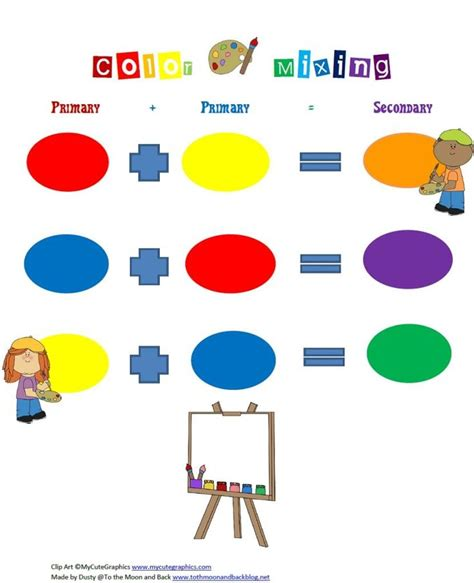 free color mixing printable for primary and secondary 833   1134db2d976157e944243ee413ab7976 secondary color primary colors