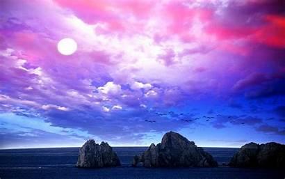 Sky Paisajes Purple Langit Cielo Nature Coloridas