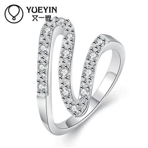 new arrival trendy style women silver rings jewelry engagement rings femal finger rings