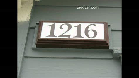 light in the box address lighted address signs for a house home building and