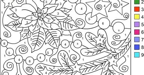 nicoles  coloring pages color  number winter