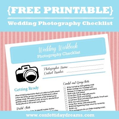 wedding photography checklist wedding photography checklist free printable