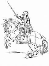 Medieval Archer Drawing Coloring Pages Knight Castle Getdrawings sketch template