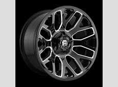 Fuel D60720909857 D607 Gloss Black and Milled Warrior 20x9