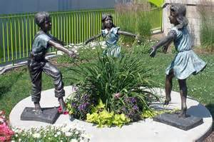 Children Bronze Garden Statue