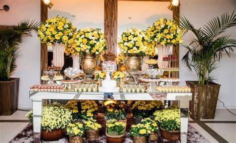 Decoração de Casamento em amarelo Clássico Noivas