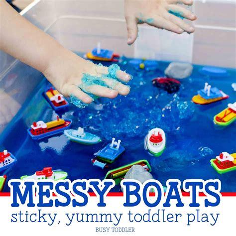 boats sticky toddler play sensory table 214 | 487868a7943fdc55b893497cefa13dbe